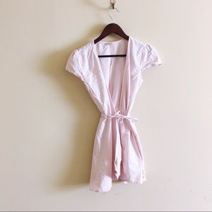 Brandy Melville John Galt Pink Wrap Dress Cover Up